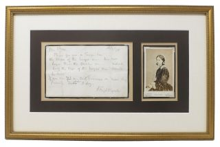 AUTOGRAPH NOTE [ANs], Signed. To Mrs Fulkes. Dated 16 July 1878. [accompanied by ]. Carte -...