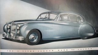 The JAGUAR Mark VII Saloon. Automobile Advertising Promotional Booklet