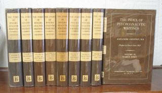 The INDEX Of PSYCHOANALYTIC WRITINGS. 9 Volumes.; Preface by Ernest Jones. Alexander Grinstein