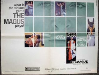 What is the Vicious Game The MAGUS Plays? Movie Poster, Michael. Quinn Caine, Guy - Director, Anna. - Actors Green, Candice. Karina, Anthony. Bergen.