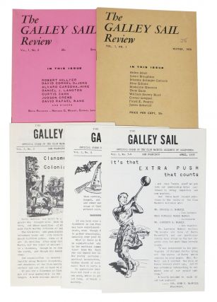 The GALLEY SAIL REVIEW. A Poetry Magazine. Vol 1. No. 1 No.'s 1 & 2. Vol 3. No.'s 2 - 5.