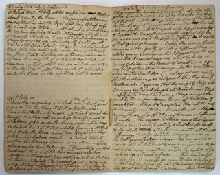 JOURNAL ACROSS The ATLANTICK. No 1. From June 3rd to July the 30th 1785. A Recopied Journal. [Manuscript Journal].