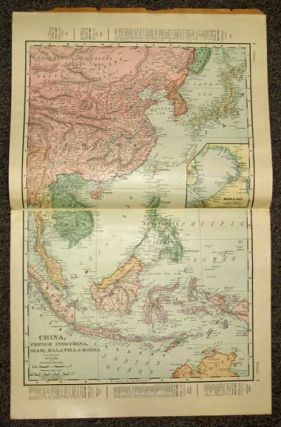 The RAND-McNALLY ATLAS Of CHINA. Containing Maps and Descriptive Matter Pertaining to General Conditions and the Present Crisis in the Celestial Empire and a Concise Review of Its History, Government, Religion, People, Industries, and Relation to Foreign Powers. Presented with the Compliments of F. A. Ferris & Company.