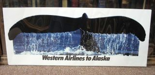 WESTERN AIRLINES To ALASKA. Airlines Travel Poster
