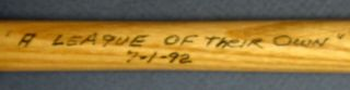 """HALL Of FAME 125 LOUISVILLE SLUGGER MINI BASEBALL BAT SIGNED By PLAYERS Of """"A LEAGUE of THEIR OWN"""" The YEAR Of The MOVIE PREMIERE."""