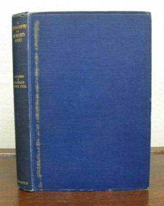 A BIBLIOGRAPHY Of UNFINISHED BOOKS In The ENGLISH LANGUAGE. With Annotations. Albert R. Corns,...
