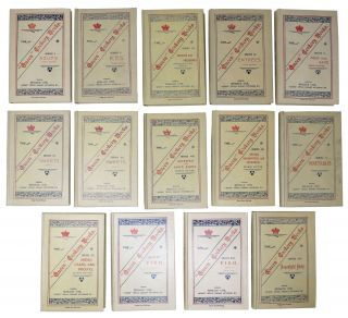 """The """"QUEEN"""" COOKERY BOOKS. Set of 14 Titles (Complete)."""