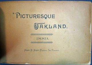 PICTURESQUE OAKLAND. 1889.