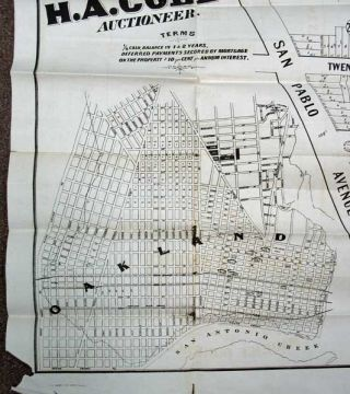 OAKLAND PROPERTY. 150 LOTS in the Whitcher Tract to be Sold at Auction on Friday 24th December 1869 at Sale Room 327 Montgomery St. by Maurice Dore & Co.