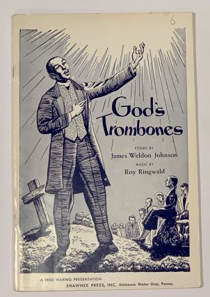 GOD'S TROMBONES. Dramatic Sequence for Two Speakers, Soloists, Mixed Chorus and Small Orchestra....