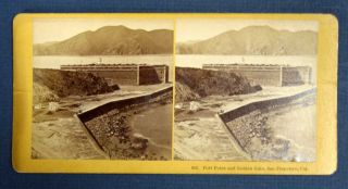 """Fort Point and Golden Gate, San Francisco, Cal."" 982. Stereoview Photograph, Benjamin West..."