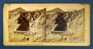 DEVIL'S GATE From The SOUTH - PACIFIC R. R. 441. Stereoview Photograph