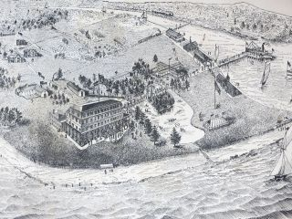 1881 OAKLAND BEACH HOTEL. 1st Brought Before the Public Generally for the First Time, and It Is the Second Season Under the Able Management of the Undersigned, who Takes Especial Pleasure in So Doing, for it is Certainly the Most BEAUTIFUL And ATTRACTIVE RESORT On NARRAGANSETT BAY [Rhode Island].