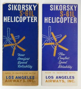 SIKORSKY S-61L HELICOPTER. Accompanied by Original Mock-up Artwork