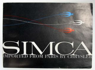 SIMCA. Imported from Paris by Chrysler. Advertising / Sales Brochure