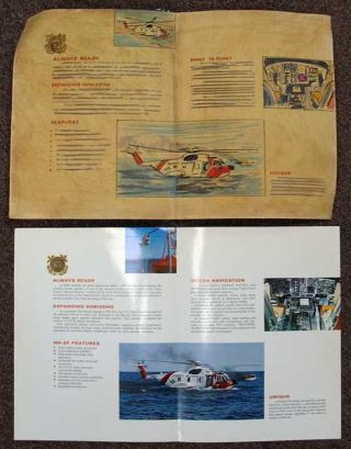 HH-3F U. S. COAST GUARD. All Weather Search & Rescue Utility Helicopter. Accompanied by Original Mock-up Artwork.