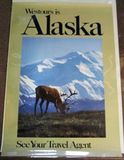 WESTOURS Is ALASKA. See Your Travel Agent. HW 10351. Airlines Travel Poster.