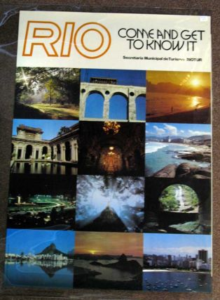 RIO. Come and Get to Know It. Secretaria Municipal de Turismo. Riotur. Airlines Travel Poster.
