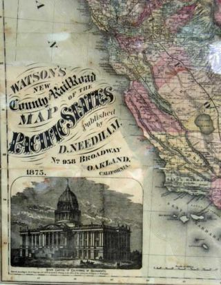 WATSON'S NEW COUNTY RAILROAD MAP Of The PACIFIC STATES.