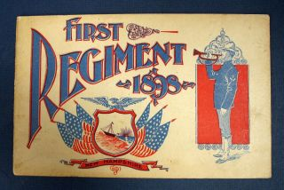 FIRST REGIMENT. 1898. NEW HAMPSHIRE. [cover title]. Spanish American War Souvenir Book