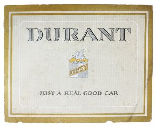 DURANT FOUR. Touring. Roadster. Coupe. Sedan. Automobile Trade Brochure / Catalogue
