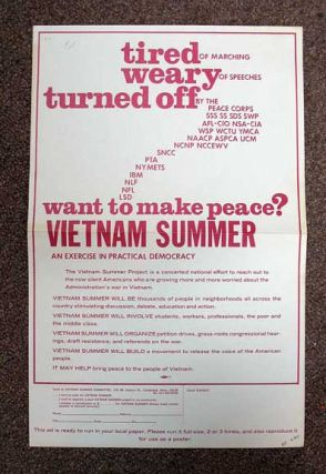 WANT TO MAKE PEACE? Vietnam Summer - An Exercise in Practical Democracy. Vietnam Anti-War Protest Broadside, Vietnam Summer Committee.