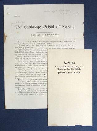 The CAMBRIDGE SCHOOL Of NURSING. Circular and Address. Cambridge School of Nursing. Charles ....