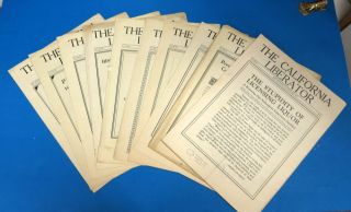 The CALIFORNIA LIBERATOR. [Collection of 12 Temperance Periodicals from 1927 to 1931.]. A. H....