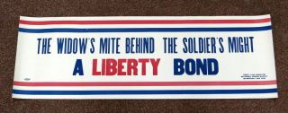 A WIDOW'S MITE BEHIND The SOLDIER'S MIGHT. A Liberty Bond. World War I. Poster, Liberty Loan Committee.