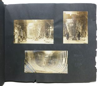 BOAT CONSTRUCTION In 1916 And The SUNSHINE.