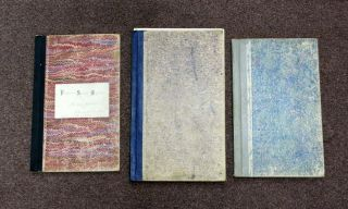 LOT Of THREE PUBLIC SCHOOL REGISTERS From BAY AREA SCHOOL DISTRICTS. 1899, 1901 & 1903. Supt....