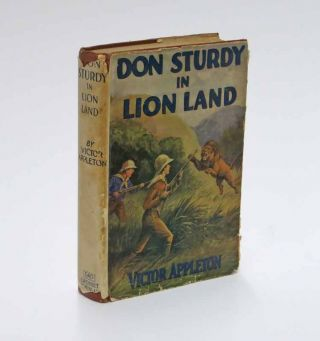 DON STURDY In LION LAND or The Strange Clearing in the Jungle. Don Sturdy Series #9. Victor...