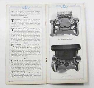 CUTTING MOTOR CARS. 1913.; The Best that Brains, Ability and Equipment has Produced in Beauty, Efficiency and Durability.