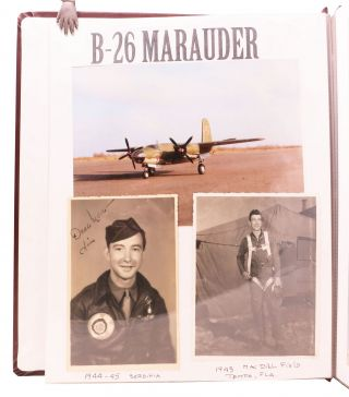 """FLYING BACKWARDS"", A World War II Scrapbook & Remembrance. [accompanied by] An ARCHIVE Of 100 WWII PHOTOGRAPHS."