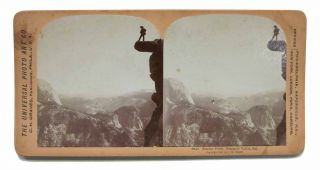 GLACIER POINT, YOSEMITE VALLEY, CAL. 5416. California Stereoview, C. H. Graves