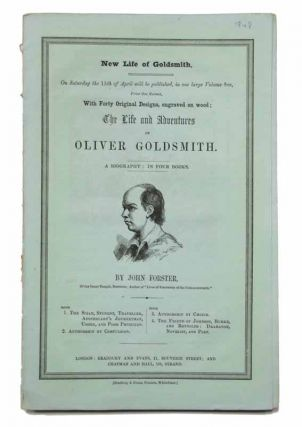NEW LIFE Of GOLDSMITH. DOMBEY And SON. Publisher Advertising Insert.