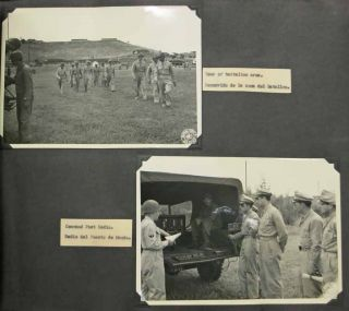 PHOTOGRAPH ALBUM DEPICTING EVENTS Of VISIT To UNITED STATES ARMY FORCES ANTILLES PRESENTED To VISITING ECUADORIAN ARMY OFFICERS. [Cover title].
