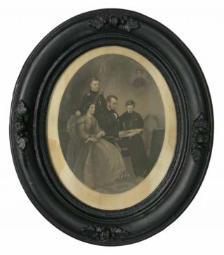 LINCOLN FAMILY. Steel Plate Engraving, Abraham . Schell Lincoln, . B. - Engraver, . - Artist....