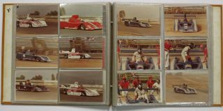 CAN-AM CAR RACE - 1981. Photograph Album, 1946 - 1988, b. 1952, b. 1945, b. 9140, b. 1950, 1925 - 2008, Al Holbert, Geoff Brabham, Randy Lewis, Graham MacRae, Danny - Pictured drivers. Newman Sullivan, Paul - Pictured owner.