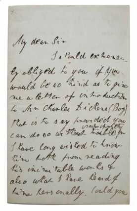 AUTOGRAPH LETTER SIGNED. Reform Club, Pall Mall. April 4th, 1843. Dickens, Thomas . Harley D'Oyly Jr., John Pritt - Recipient. - Subject, b. 1821, 1786 - 1858, Charles. 1812 - 1870 Dickens.