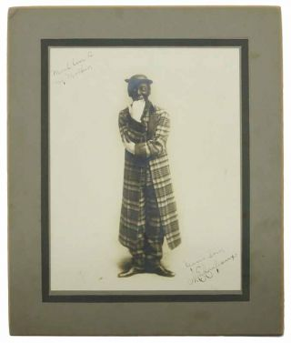 MOUNTED SILVER GELATIN PHOTOGRAPH Of VAUDEVILLE PERFORMER W. E. CRAFEAUX In BLACKFACE. Signed and...