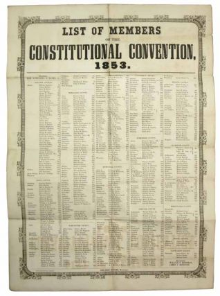 LIST Of MEMBERS Of The CONSTITUTIONAL CONVENTION, 1853. Massachusetts History, Benjamin -...