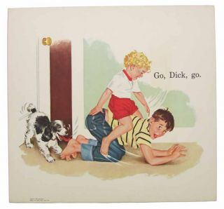 "SET Of ""OUR BIG BOOK"" CARDS. Sally, Dick, and Jane; Think-and-Do Book; Fun with Our Family."