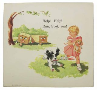 """SET Of """"OUR BIG BOOK"""" CARDS. Sally, Dick, and Jane; Think-and-Do Book; Fun with Our Family."""