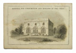 HOSPITAL For CONSUMPTION, and Diseases of the Chest. Instituted 25th May, 1841.; In-Patient Branch, Manor House, (Near the Royal Hospital,) Chelsea. Out-Patient Branch and Offices, No. 20, Great Marlborough Street. Subscriber Solicitation, 1816 - 1883, Philip - Founder / Former Owner Rose.