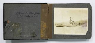 PHOTOGRAPH ALBUM. U.S.S. Arkansas. William E. - Compiler Murphy.