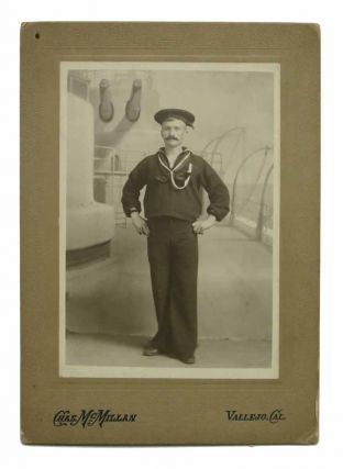 CABINET CARD PHOTOGRAPH Of A SAILOR. 19th C. San Francisco East Bay Photographer.