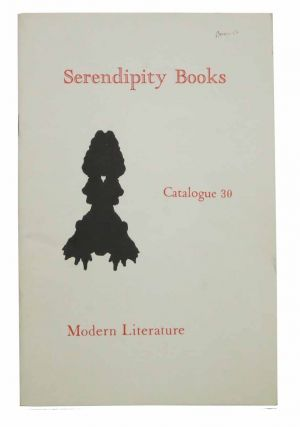 SERENDIPITY BOOKS. Catalogue 30. Modern Literature. Bookseller Catalogue, Peter B. Howard.