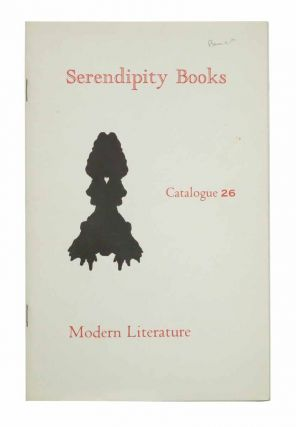 SERENDIPITY BOOKS. Catalogue 26. Modern Literature. Bookseller Catalogue, Peter B. Howard.