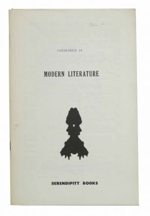 SERENDIPITY BOOKS. Catalogue 14. Modern Literature. Bookseller Catalogue, Peter B. Hawley Howard, Bob, Dorothy - Recipients.